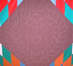 Close Up Quilting Design