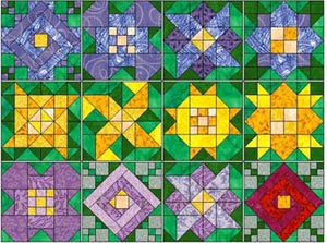 Happy Scrappy Orphan Block Of the Month Quilt