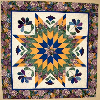 Four Star Square, A free Mystery Quilt pattern from Quilting at